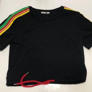 Zara black crop top